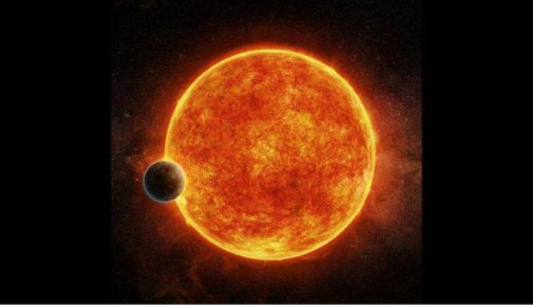 Планетата LHS 1140b до своята звезда (концепция на художник). Изображение: M. Weiss/CfA