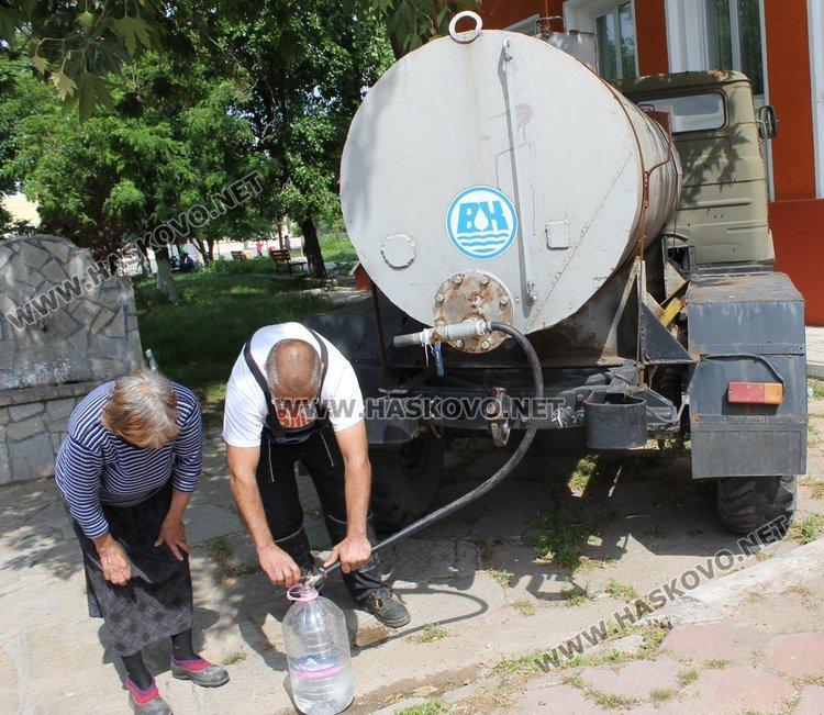 Преди обяд една от водоноските бе в село Радиево