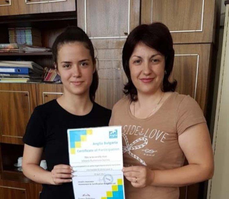 Златаровец със сертификат от Anglia Examinations Bulgaria