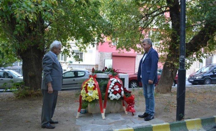 Пантелей Пачов бе сред присъстващите на поклонението пред паметната плоча на баща му Лазар и чичо му Пантелей Пачови през 2016 г.