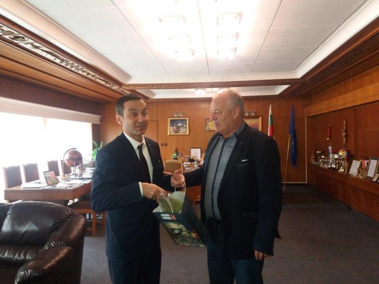 Кметът Мелемов се срещна с генералния консул на Турция в Пловдив Ергани