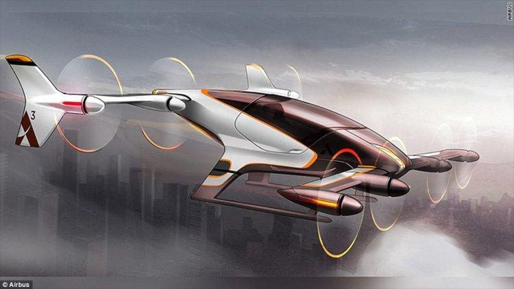 Airbus показа летящо самоуправляващо се такси (видео)