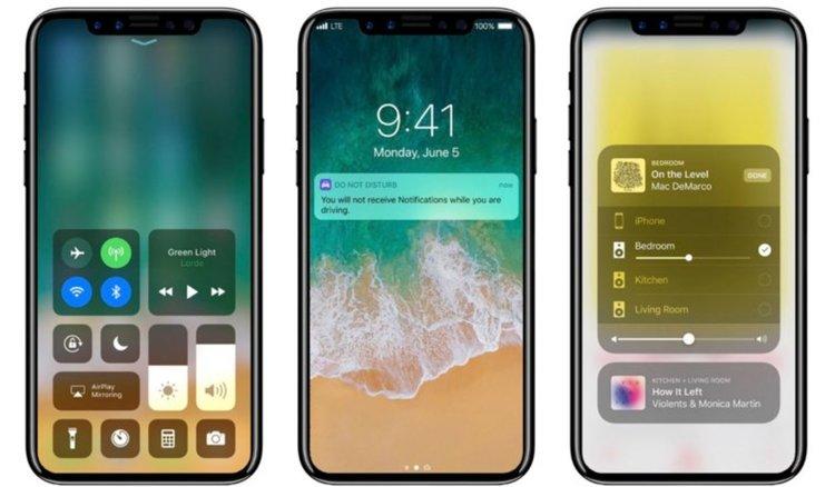 Ето и новия дизайн на iPhone 8