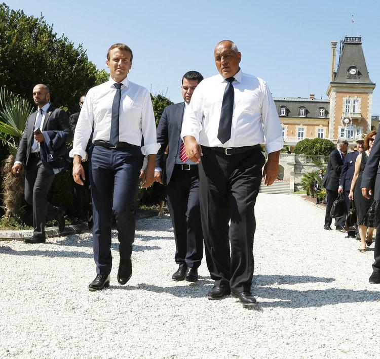 """Френският президент: Ще подкрепя премиера Борисов в усилията му България да бъде приета в """"чакалнята"""" на еврозоната"""
