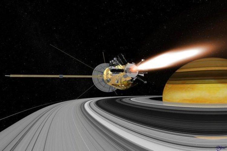 Големият финал на Cassini в атмосферата на Сатурн (видео)