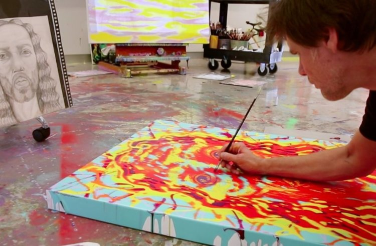 Джим Кери рисува света отвъд егото (видео)