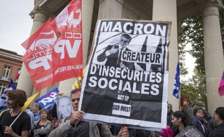 Десетки хиляди протестираха в Париж срещу трудовата реформа на Макрон (видео)