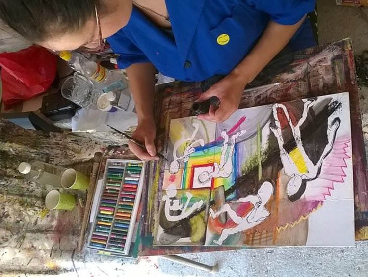 Изложба в лятната читалня представя творби от пленера в Бодрово