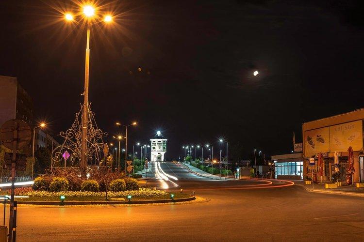 """Снимката на Генади Найденов - """"Димитровград по време на лунното затъмнение"""""""