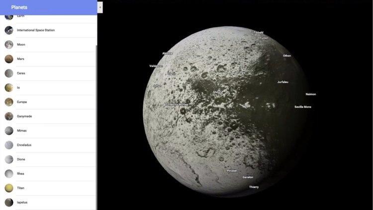 С Google Maps вече може да разглеждате Слънчевата система
