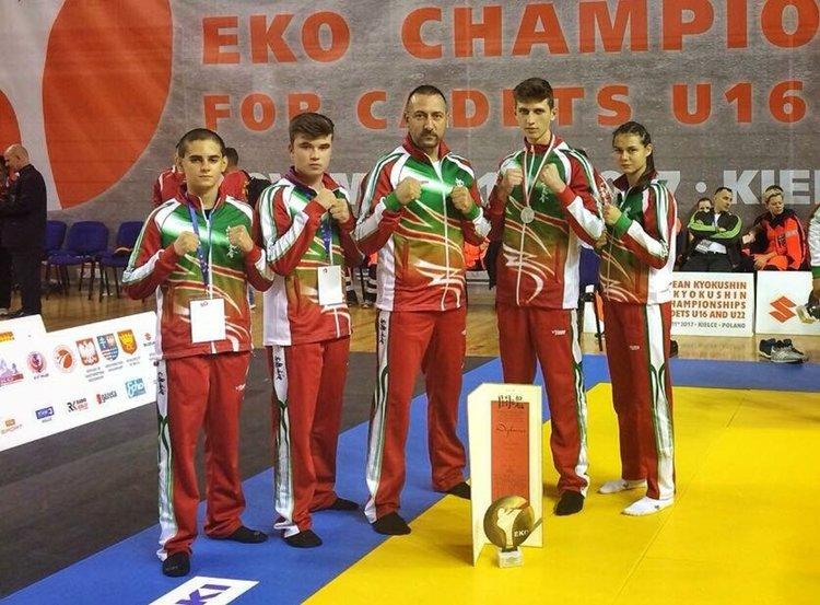 """Сребърен медал за боец на """"ХАМОН"""" на Европейското по шинкиокушин"""