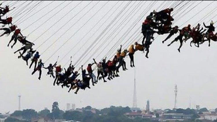 Чудесата на физиката: Как 245 души скочиха от мост заедно и оцеляха (видео)