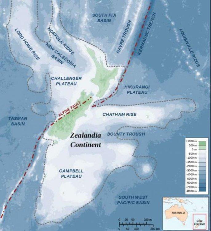 Линията от ляво на платото Хикуранги е проблемната зоната на субдукция. Alexrk / Wikimedia Commons; CC BY-SA 3.0