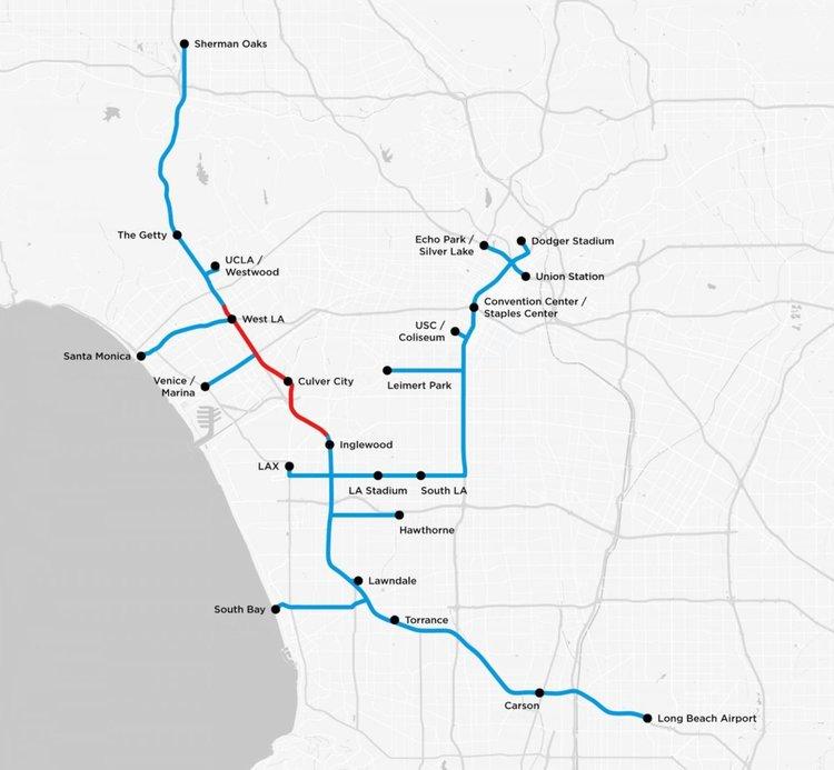 Мъск показа картата на тунелите под Лос Анжелис