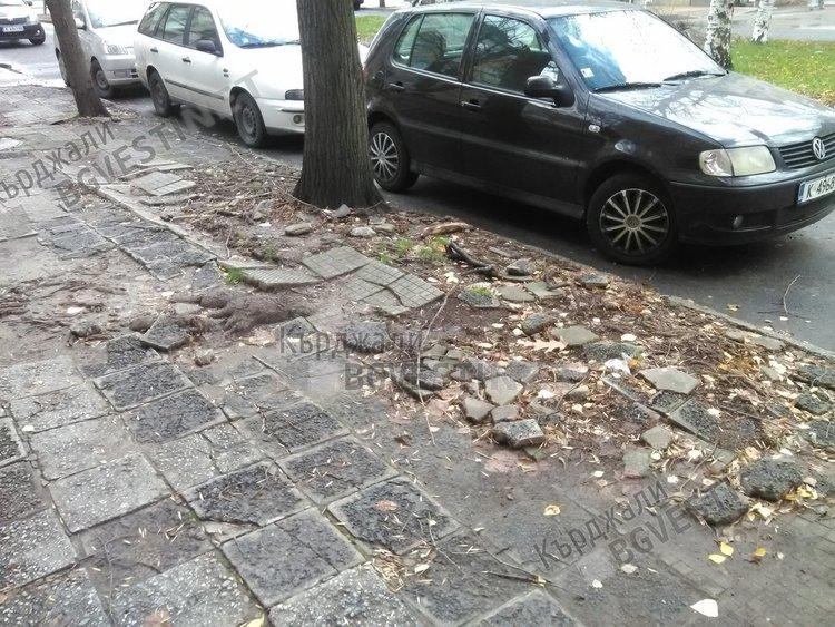 Разбити тротоари предизвикват негодувание у кърджалийци в навечерието на Коледа