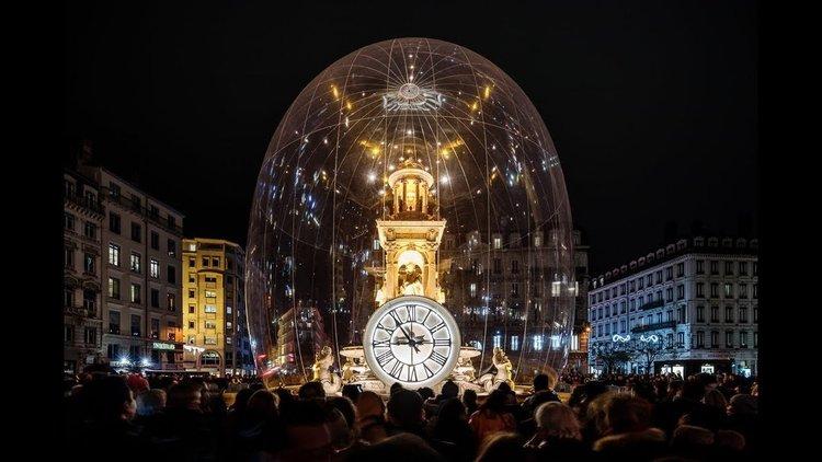 Фестивалът на светлините в Лион (видео)