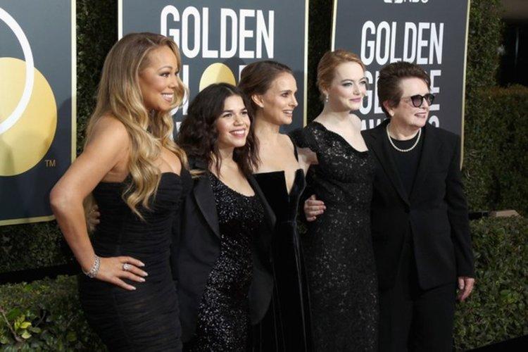 """Звезди в черно на наградите """"Златен глобус""""  знак за внимание и специално отношение към скандалите със сексуално насилие"""