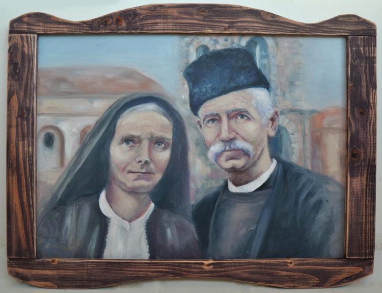 Портрет на Дора и уста Славо от Славейно