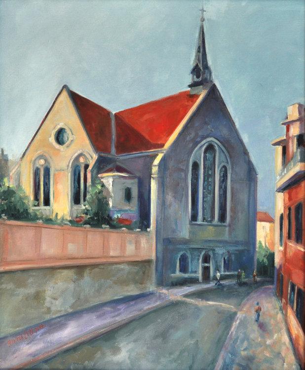 Евангелската църква в Пловдив също е дело на родопския майстор