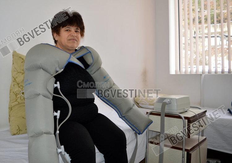 Тази жена за пръв път е на процедури, дошла по препоръка на близки
