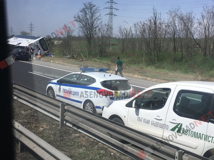 """Снимки от адския инцидент на магистрала """"Тракия"""""""