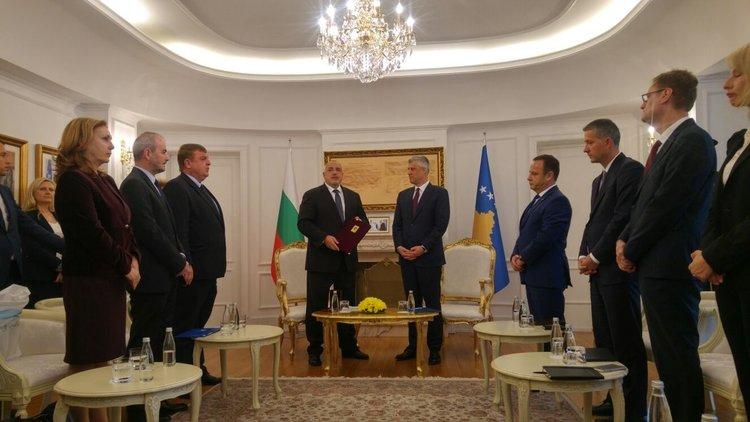Борисов с Орден на независимостта на Косово