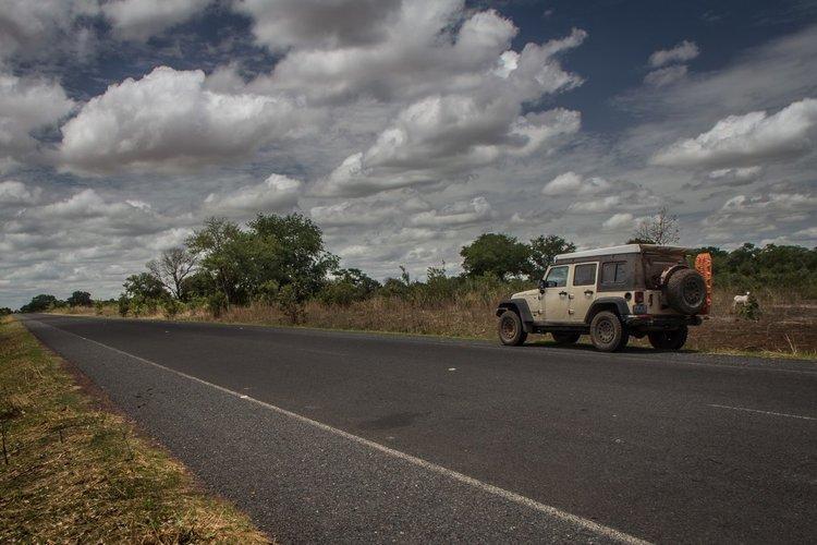 Северната магистрала в Гамбия