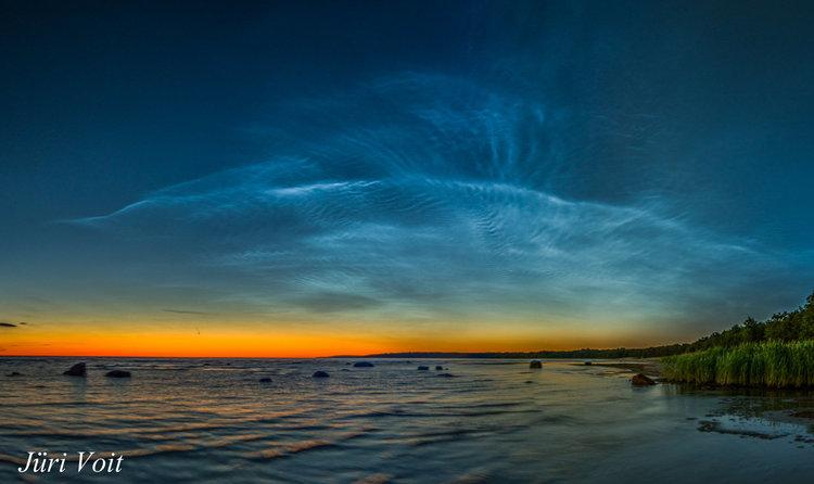 Светещи облаци над Естония, Беларус, Финландия, Полша, Швеция и Канада