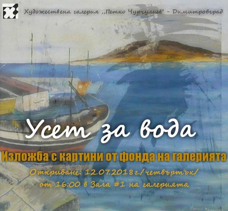 """""""Усет за вода"""" представят в димитровградската галерия"""