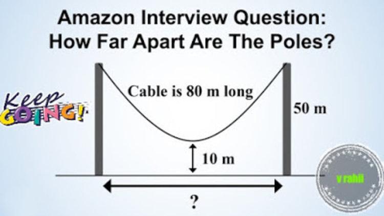 Можете ли да решите въпроса с висящия кабел от интервюто на Amazon (видео)