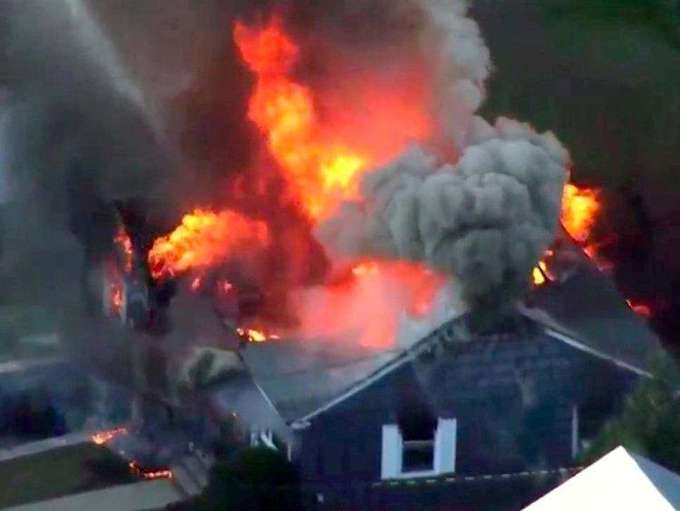 Серия експлозии и пожари близо до Бостън