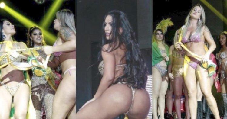 Конкурсът Miss BumBum завърши с бой (видео)