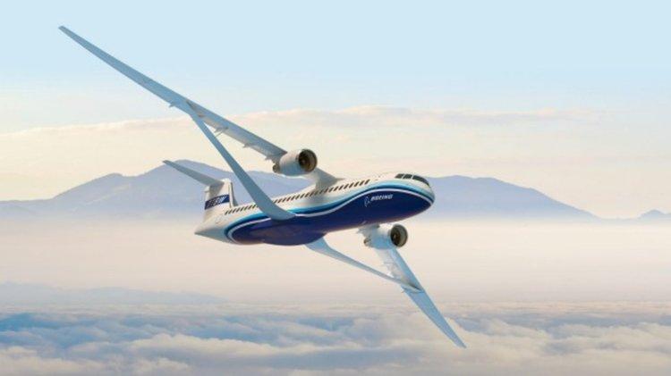 Трансзвуковото крило на Boeing може да лети със скорост до 965 км/ч, като същевременно значително намалява разхода на гориво. Сн.: BOEING