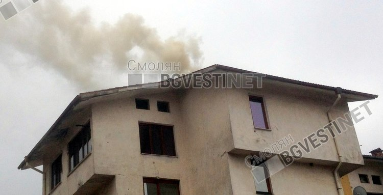 Пожар в комин гасиха в Чепеларе