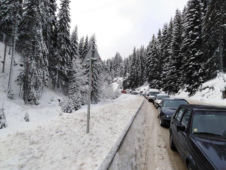 Колона от закъсали камиони задръстиха пътя за Пампорово