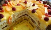 Бисквитена торта с крем Брюле