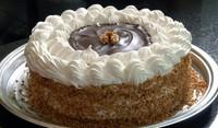 Постна торта с мед