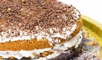 Торта с маскарпоне и течен шоколад