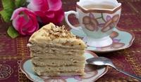 Бисквитена торта с крем кафе