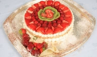 Торта с желирани плодове