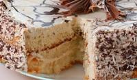 Торта със сметана и бял шоколад
