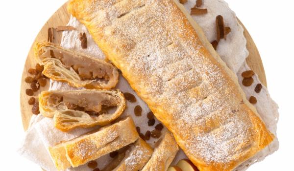 Беларуски ябълков пирог с бутер тесто