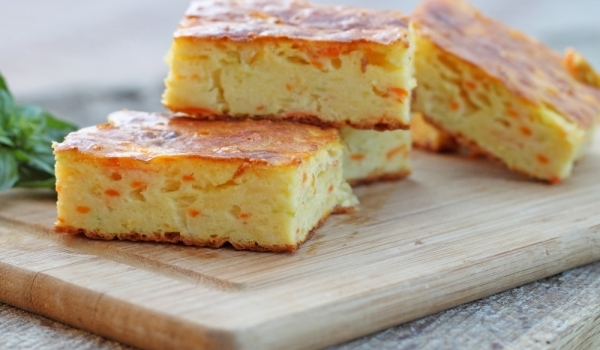 Солен кекс с моркови