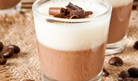 Желиран десерт с кафе и сметана