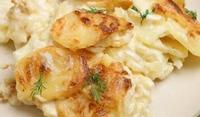Картофи със сметана и копър