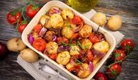 Печени картофи с чесън по италиански