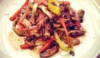 Гъби със зеленчуци и елда