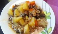 Картофи с гъби и ориз