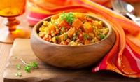 Кафяв ориз с моркови