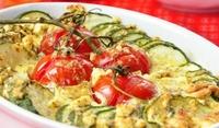 Флан от тиквички и домати